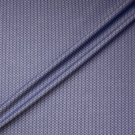 Hexagonal Jacquard Pure Cotton Shirting