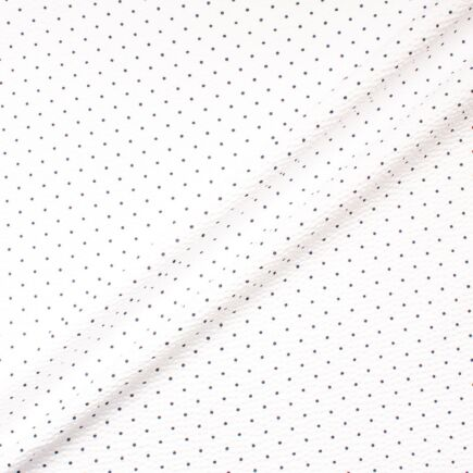 Blue Spotted White Seersucker Cotton Shirting