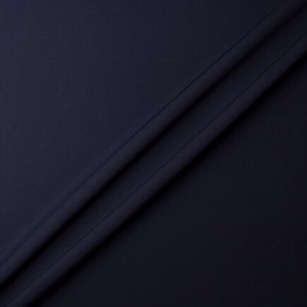 Dark Navy Blue Pure Silk Moss Crêpe