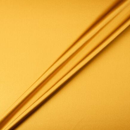 Rich Mustard Silk Satin Double Crêpe