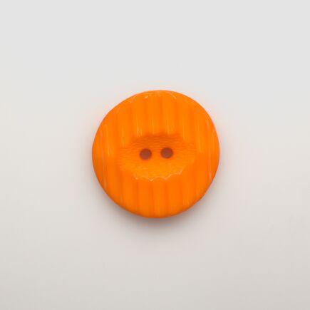 Orange Ridged Button - Large