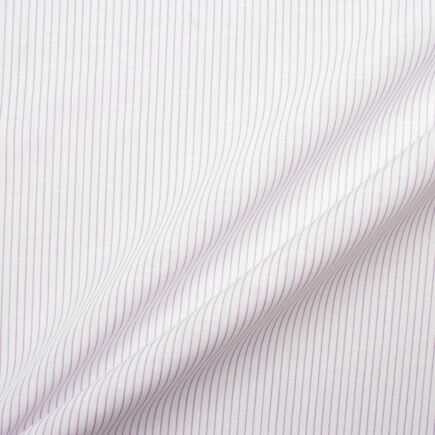 Purple & White Striped Linen & Cotton