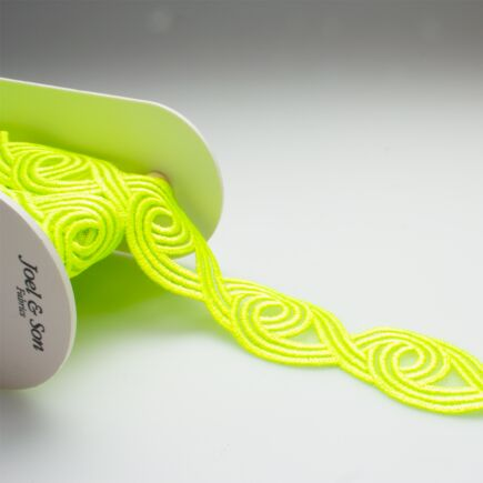Neon Green Embroidered Trim
