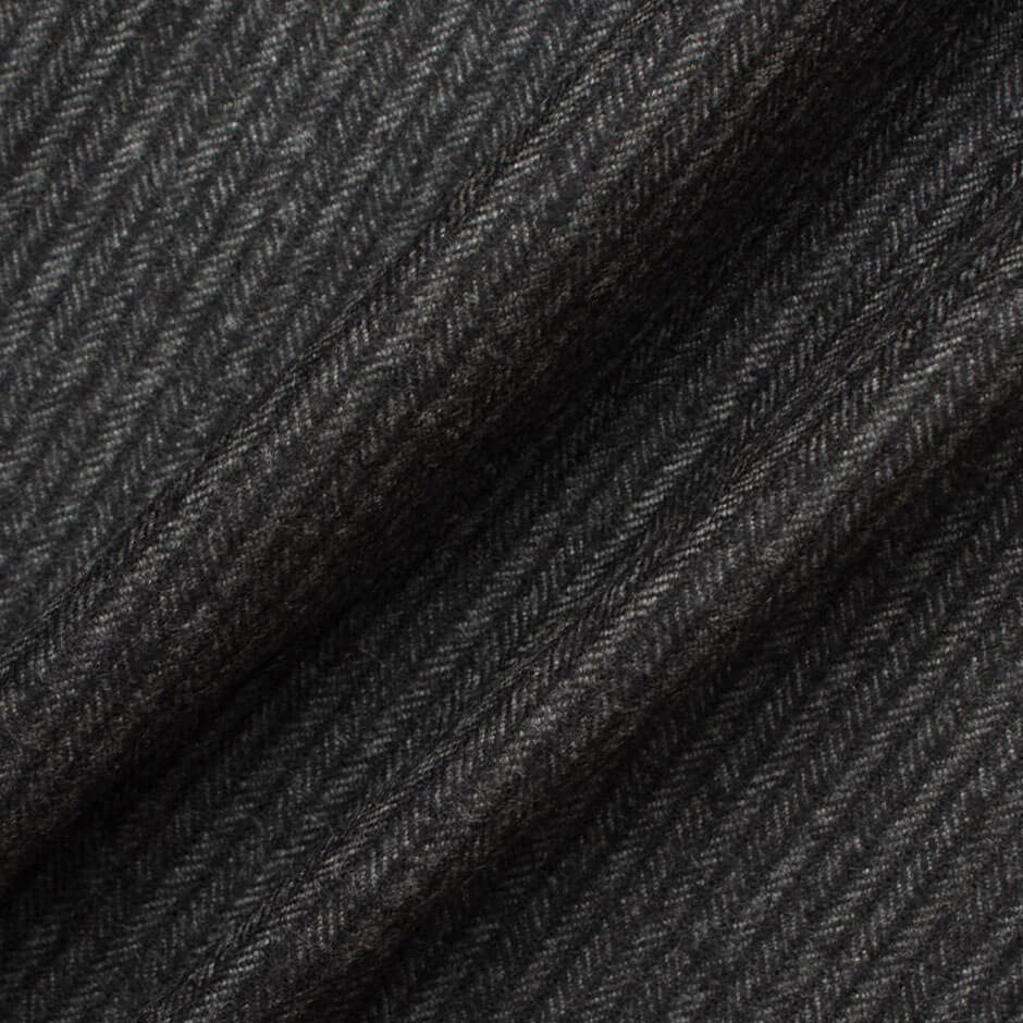 Grey Herringbone Cashmere & Vicūna Wool Suiting