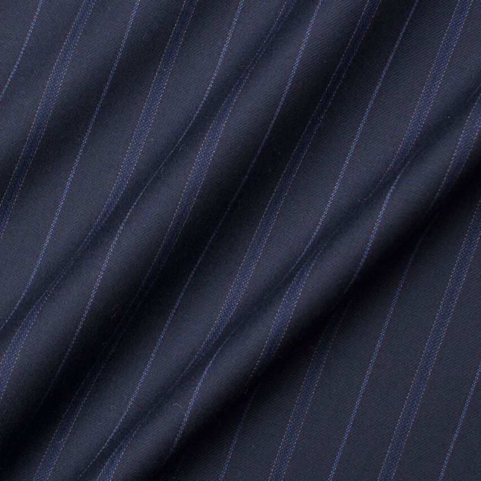 Navy Blue 'Super 190's' Pure Wool Suiting