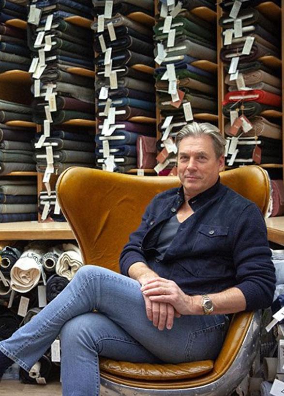 Stewart Parvin visits joel and son fabrics